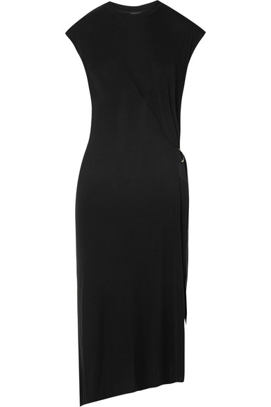 Rag Bone Ophelia Asymmetric Stretch Knit Midi Dress Net A