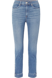 Cuffed Cigarette high-rise skinny jeans
