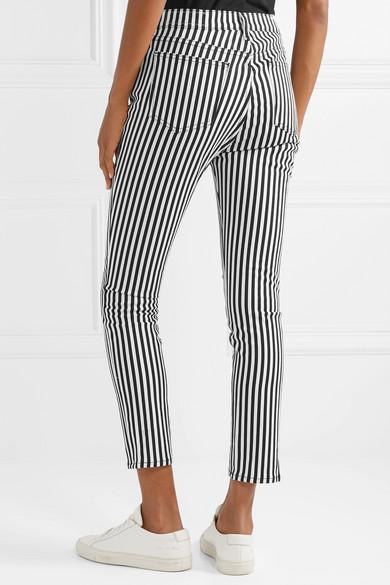 4c123f5fe44534 striped-high-rise-skinny-jeans by rag- -bone