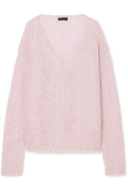 Freda open-knit mohair-blend sweater