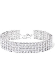 Kenneth Jay Lane Silver and rhodium-plated cubic zirconia choker