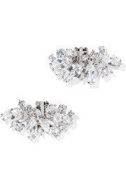 Kenneth Jay Lane Rhodium-plated cubic zirconia shoe clips