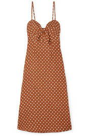 Faithfull The Brand Fiscardo polka-dot linen midi dress