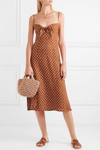Fiscardo Polka Dot Linen Midi Dress by Faithfull The Brand