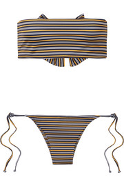 Faithfull The Brand Striped bandeau bikini
