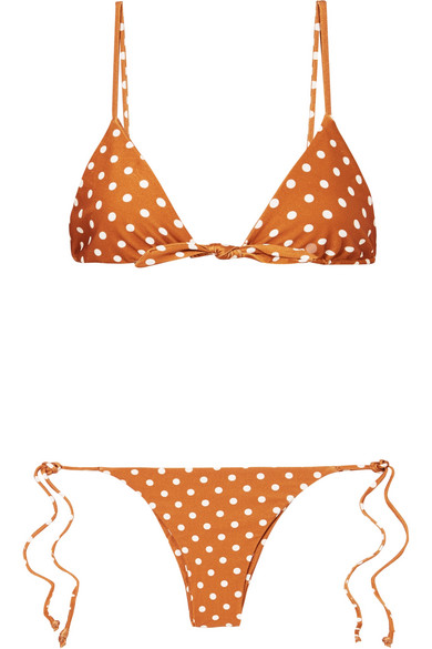 Polka Dot Triangle Bikini by Faithfull The Brand