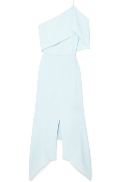 Harlow One-shoulder Embroidered Cloqué Dress - Blue Roland Mouret Buy Cheap 100% Guaranteed Websites Comfortable Online Good Selling Cheap Price Particular l2b8jtLD