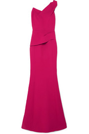 Roland Mouret Azul one-shoulder wool-crepe gown