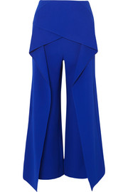 Roland Mouret Caldwell layered crepe wide-leg pants