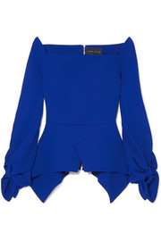 Wicklow crepe peplum top