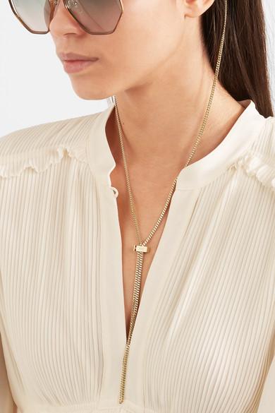 54784030 Chloé | Gold-tone sunglasses chain | NET-A-PORTER.COM