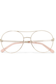 Jacky round-frame metal optical glasses