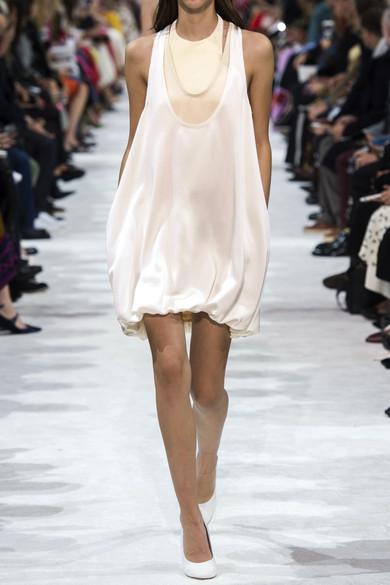 Valentino Minikleid aus gehämmertem Satin
