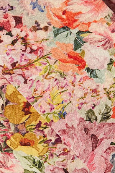 Valentino Culottes Of Crêpe Of A Wool-silk Blend Floral Print