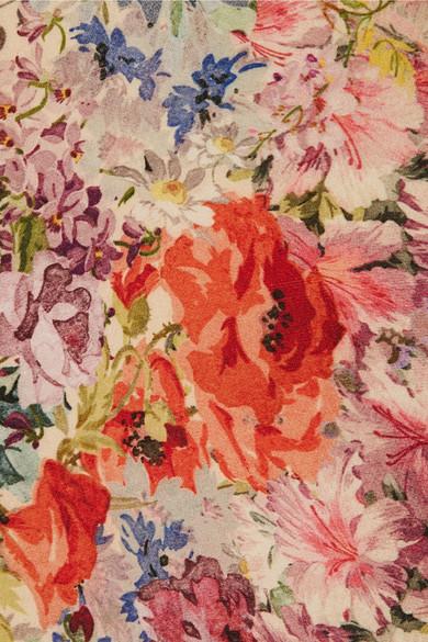 Valentino Oberteil aus Crêpe aus einer Woll-Seidenmischung mit Blumendruck