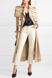 Valentino Oversized patchwork hammered-satin trench coat