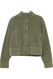 Valentino Oversized cotton-twill jacket