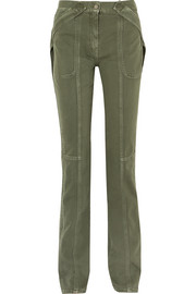 Valentino Cotton-twill straight-leg pants