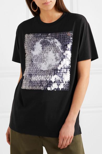 Valentino Bedrucktes T-Shirt aus Baumwoll-Jersey mit Verzierung