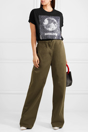 Valentino Embellished printed cotton-jersey T-shirt