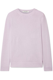 Valentino Tie-back satin crepe-trimmed cashmere sweater