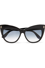 TOM FORD Nika cat-eye acetate sunglasses