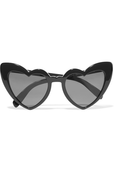 Saint Laurent - Loulou Heart-frame Acetate Sunglasses - Black