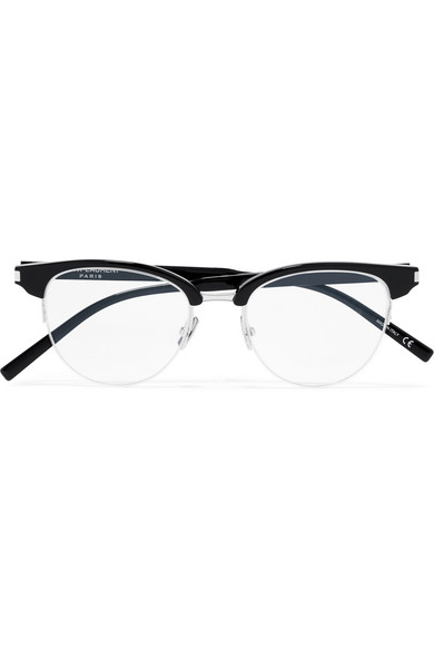 144471c21d Saint Laurent. Round-frame acetate optical glasses
