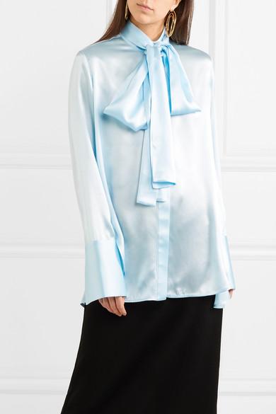 Ellery Oversized-Bluse aus Seidensatin mit Schluppe