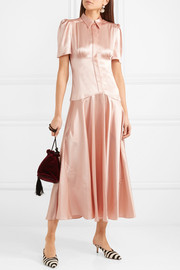 Plimpton silk-satin midi dress