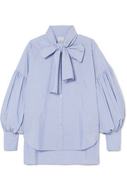 New Romantic pinstriped cotton-poplin shirt