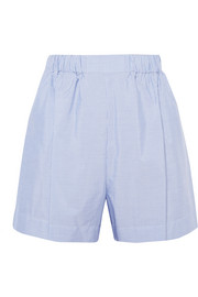 Pinstriped cotton-poplin shorts