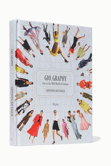 RIZZOLI Gio Graphy: Fun In The Wild World Of Fashion Hardcover Book in White