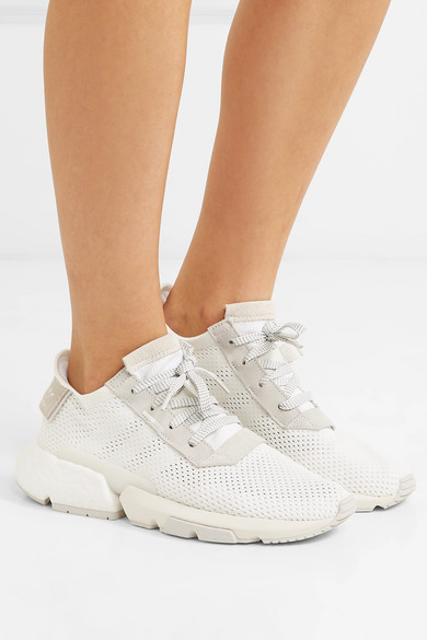 POD S3.1 suede trimmed mesh sneakers