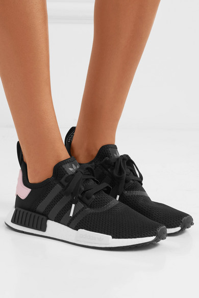 NMD_R1 rubber trimmed Primeknit sneakers