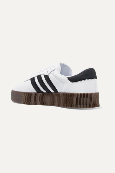 58e980461c3c2c adidas Originals. Samba Rose textured-leather platform sneakers. £75. Zoom  In
