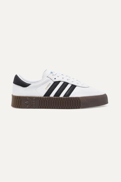 SambaRose Plateau Sneakers aus strukturiertem Leder
