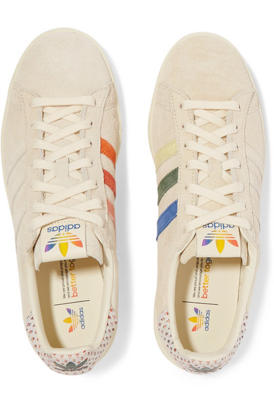 4cb9176b6e0 adidas Originals | Campus Pride canvas-trimmed suede sneakers | NET ...