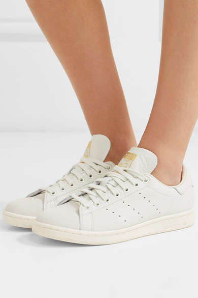 more photos 88bc1 7e50e Stan Smith Premium textured-leather and nubuck sneakers