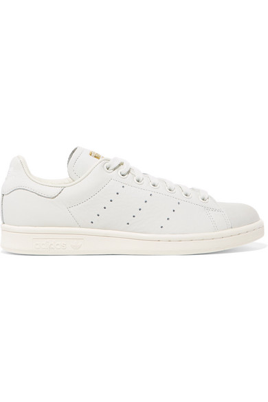 more photos 4f09b 92127 Stan Smith Premium textured-leather and nubuck sneakers