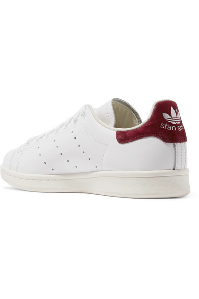 the best attitude 31f75 4223d adidas Originals. Stan Smith suede-trimmed leather sneakers. £85. Zoom In