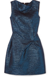 Zonda metallic woven mini dress