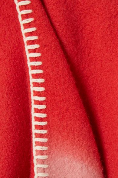 Holzweiler Dipper Poncho aus einer Woll-Kaschmirmischung mit Farbverlauf