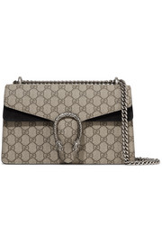 Gucci Dionysus small coated-canvas and suede shoulder bag