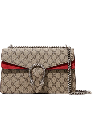 72a63c69dcb1 Gucci   Dionysus medium printed coated-canvas and suede shoulder bag ...
