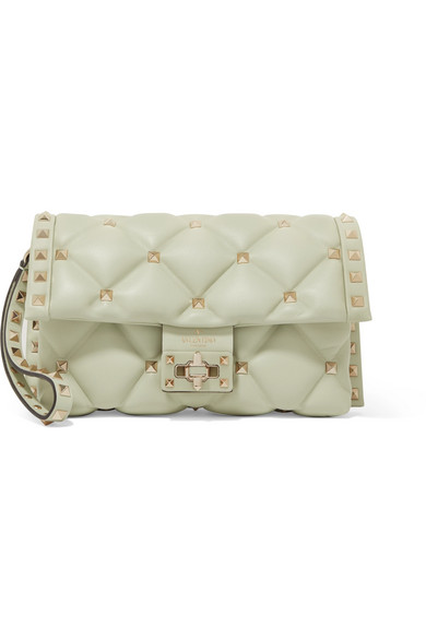 2193257ede Valentino. Valentino Garavani Candystud quilted leather clutch