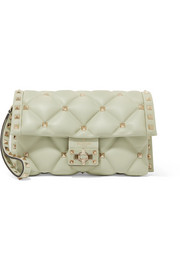 Valentino Valentino Garavani Candystud quilted leather clutch