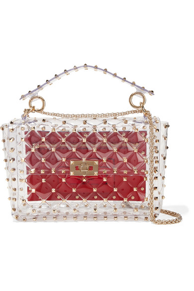 b35109e66f3 Valentino. The Rockstud Spike quilted PVC shoulder bag