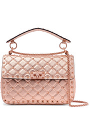 The Rockstud Spike quilted metallic leather bag