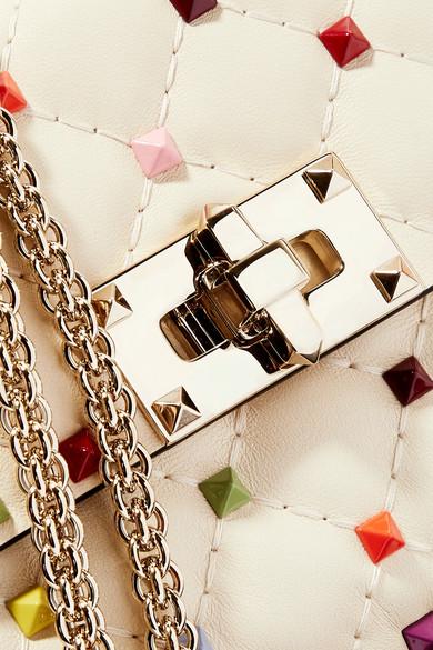 Valentino Rockstud Schultertasche aus gestepptem Leder Kosten Günstiger Preis Verkauf Vermarktbare Billig Verkauf Komfortabel w6BGcMZow